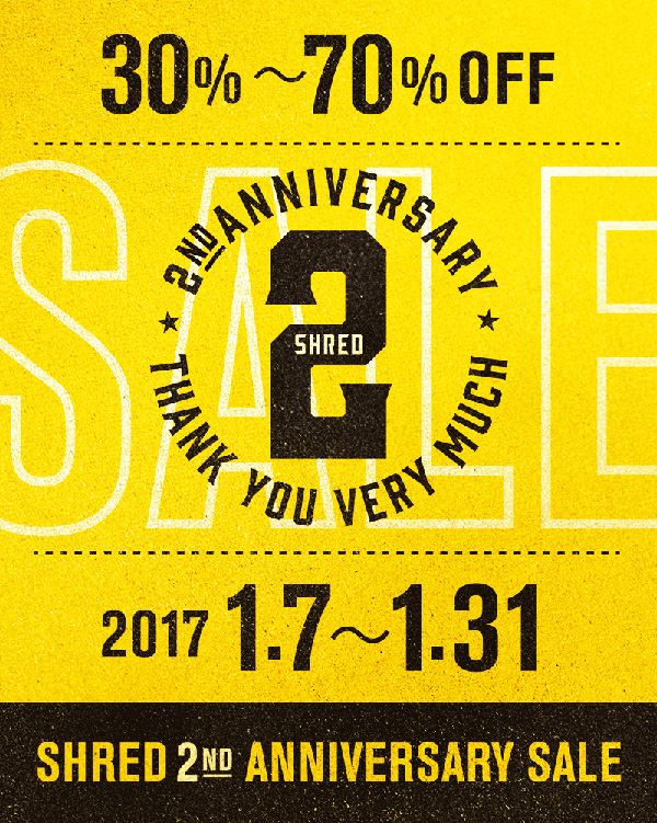 shred_2nd_anniversary_sale